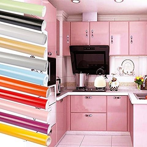 Bon Enjoy® PVC Fototapete Selbstklebend Fototapeten Tapete 0.61*5m Tapeten KÜCHENTAPETE KÜCHE Schrank Für küchendekoration- Rosa