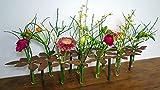 Metallmichl Edelrost Tischdeko Ständer Blumen 64 cm Lang inkl. 10 Reagenzgläsern Besondere Frühlingsdeko