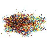 Sharplace 10000 Pcs Kristall Hydroperlen Wasserperlen Gelkugeln Gelperlen Kugeln für Wasser Pistole Spielzeug,Dekoration, Blumenzubehör - Mehrfarbig