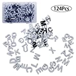 Doolland 124 Pcs Fridge Magnetic Letters Gift Set Alphabet Magnets with Carry Box
