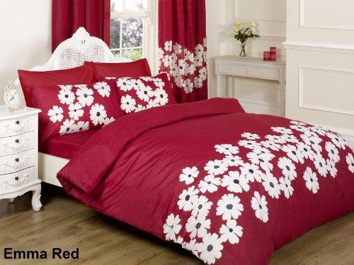 emma bettdecke ||jaaz Textile|| Emma rot doppelt Bedruckte Bettwäsche Bettbezug-Set (Bettbezug + 2Kissenbezügen)