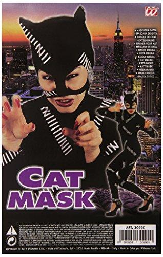 Hippie Kostüm Carnevale - Widmann s.r.l. Hippie Frau Cat Eye mask-Black, One Size