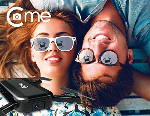 C-me 20050 - Die fliegende Selfie-Kamera für Full HD-Videos und 8-MP-Fotos, fliegende Selfie-Cam mit GPS-Unterstützung, zusammenfaltbar, einfach per Smartphone fliegen, filmen und sofort teilen, schwarz - 3