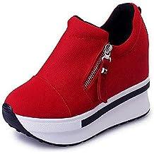 Mujer Plataforma de cuñas Zapato de Deporte Zapatillas Altas Casual Running Senderismo Zapatillas Gris Negro Moda