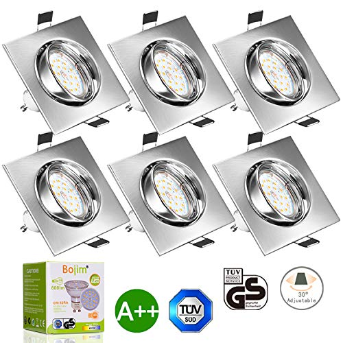 Foco Empotrable, Bojim 6x GU10 LED Luz de Techo 6W equivalente a...
