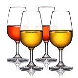 MICHLEY Bicchieri per Vino Rosso 225 ml Set da 4 Tritan-plastica infrangibile Bicchieri di Vino Rosso Lavabile in lavastoviglie