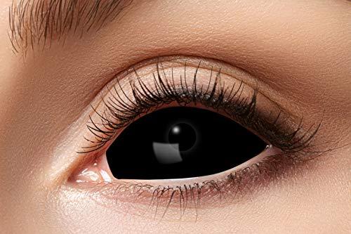 Eyecatcher - Farbige Kontaktlinsen für 6 Monate, schwarze Sclera, 2 Stück, BC 8.6 mm