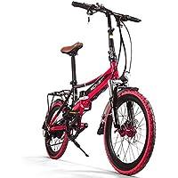 Vélo électrique Vélo de ville pliable Hommes / Dames Vélo Vélo de route RT700 250W * 48V Mini-roue de 20 pouces Double suspension Dérailleur SHIMANO 7 vitesses Cellule de batterie LG Frein à double disque