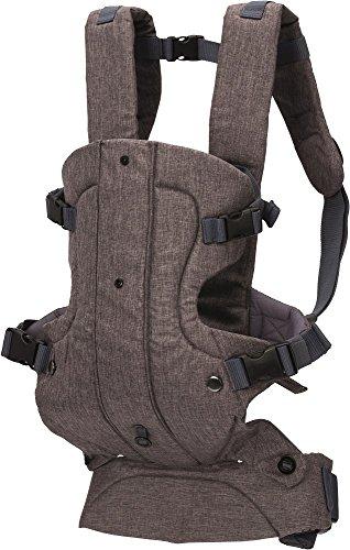 Fillikid Babytrage Kindertrage Vario Top | ergonomische Bauchtrage & Rückentrage | Schultergurt & Hüftgurt verstellbar | für Neugeborene & Kleinkinder von 3 bis 24 Monate (3,5-14,5 kg), Design:grau