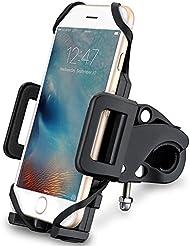Demarkt Support Téléphone Portable Vélo Moto Rotatif à 360 Bracelet Taille Réglable Compatible Avec Pour iPhone 6S 7 Plus Samsung Galaxy S6 S7 Edge Huawei Etc 1PC