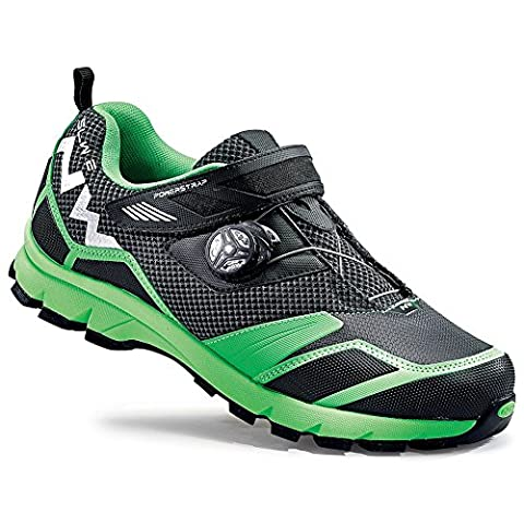 NORTHWAVE MISSION PLUS Mountainbike Schuhe black-green fluo, Größe:Gr. 44