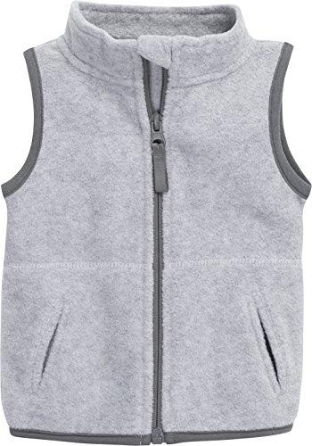 Schnizler Baby Fleece-Weste, ärmellose Unisex-Jacke für Mädchen und Jungen mit Reißverschluss und Kontrastnähten -