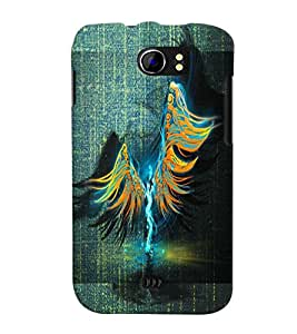 PrintVisa Modern Art Angel 3D Hard Polycarbonate Designer Back Case Cover for Micromax Canvas 2 A110 A110Q