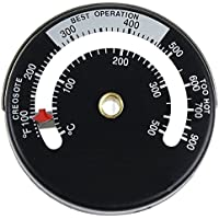 Fire Stove Pipe Magnetic Thermometer Gauge