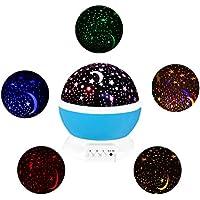 Hemore Estrella luz Nocturna Proyección, 360Grado de Rotación Luz del proyector Niños Noche Luz, Estrella Noche luz