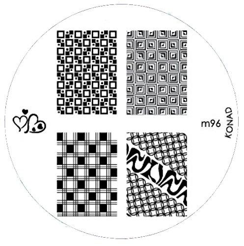 Pochoir de stamping # M de 96