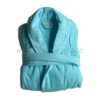 Achat nature aquanatura–Organic Cotton Bathrobe, Color Turquoise, Size S