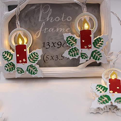 YLSMN Chaîne de lumière de Noël conduit chaîne de lumière boîte de batterie cloche cerf vacances lumières de Noël lumières décoratives chaîne led rgb