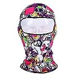 Godbb 3D Druck Balaclava Ski Maske Winddicht Gesichtsmaske Motorrad Gesichtsschutz Für Männer Frauen Dünne Atmungs Halswärmer Maske Für Outdoor Radfahren Snowboard Wandern (Farbe : C8)