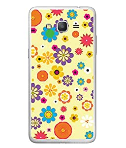 PrintVisa Designer Back Case Cover for Samsung Galaxy J7 J700F (2015) :: Samsung Galaxy J7 Duos (Old Model) :: Samsung Galaxy J7 J700M J700H (Cute Floral Design In Yellow)