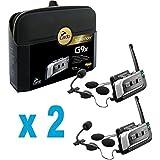 Cardo Scala Rider G9X G9 X PowerSet Twin con 2 sistemi di comunicazione