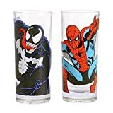 Lot De 2 Verres Spiderman Et Venom