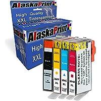 Set di 4 Cartucce compatibile con HP 364 XL 364XL (Black , blu , Magenta , giallo) con Chip e indicatore di livello Photosmart 7510 6520 6510 5524 5522 5520 5514 5515 5510 b110 7520 B8550 C6380 D5460 7500 C5324 Officejet 4620 4622 Deskjet 3070A 3524 3522 3520