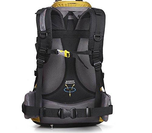 ROBAG All'aperto alpinismo borsa pacchetto trekking zaino poliestere per il tempo libero turismo viaggi per uomini e donne 50L , blue black