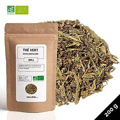 Thé Vert Bio ? Sencha Nature Chine ? Thé Vert Nature Léger ? Thé Vert en Vrac ? Sachet 200 grammes avec Zip ? 80 Tasses ? 100 % Agriculture Biologique ? Thé Vert de Qualité ? Satisfait ou Remboursé ?