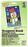 Ursus 8770010 - Moosgummi Mosaik, Schneemann, ca. 23 x 16 cm, bunt