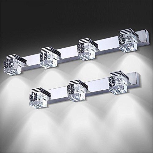Un espejo de luz/luces delanteras/crystal lámpara de pared/LED luces delanteras del espejo de agua de baño/aseo/espejo que no se empaña la pasarela/apliques de luz minimalista moderno,luz cálida,3