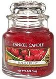 Yankee Candle Glaskerze, klein, Black Cherry