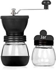 LayTmore Manual Coffee Grinder-Conical Ceramic Burr Mill,Adjustable Hand Precision Brewing