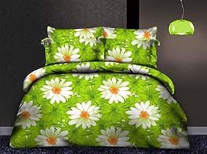 200x220 Winter Bettwäsche 3tlg Bettwäscheset Blumen-Motiv flauschig Bettbezüge Bettwäschegarnituren Microfaser mollig weich kuschelig SHR 15