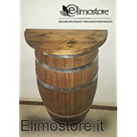 Media barril de 100L Botti madera con jabonera 60cm