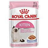 Royal Canin Kitten Instinctive Cat Wet Food Jelly Flavor 85 Gm Pouches (Pack Of 12)