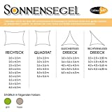 Sonnensegel Sonnenschutz Garten | UV-Schutz PES Polyester wasser-abweisend imprägniert | CelinaSun 1000570 | Rechteck 3,5 x 5 m grün -