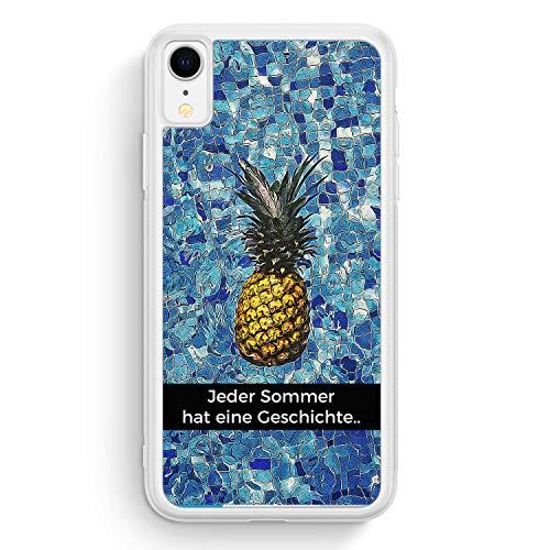 e Geschichte - Ananas - Frosted Silikon Hülle für iPhone XR - Motiv Design Spruch Cool Schön - Cover Handyhülle Schutzhülle Case Schale ()