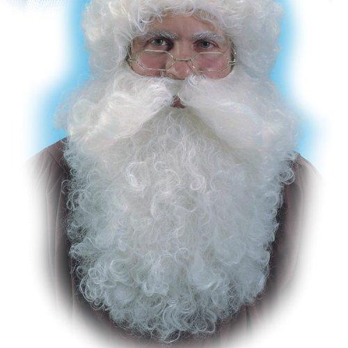 Nikolaus Bart Weihnachtsmann Santa Claus Zubehör Nikolausbart weiß