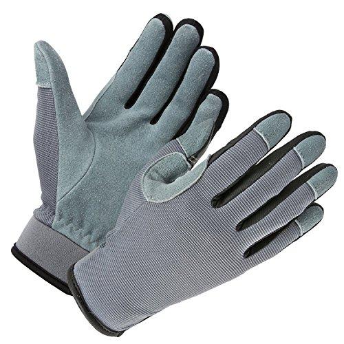 OZERO Arbeitshandschuhe,Touchscreen Lederhandschuhe für Damen and Herren