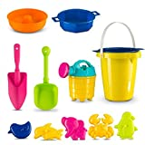 #5: Novelty Kids Assorted Sand Tools Set 11 Pc - Multicolor Beach Toys Play Set for Sandbox | Pools | Playpen | Bathtub - Includes 6 Molds | 2 Shovels | Watering Can | sand Funnel |Bucket - Ages 3+