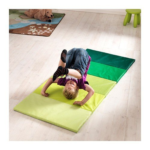 IKEA PLUFSIG - Folding gym mat, green - 78x185 cm by Ikea
