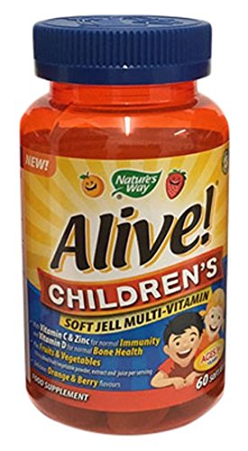 Natures Way Multivitamin Alive. Kinder Softgel - 60 Stück - Kinder-kautabletten 60 Tabletten