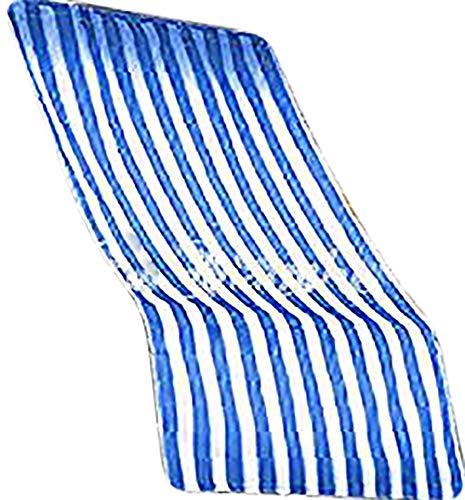 Galleria fotografica R.P. Coppia tende da sole per esterno in tessuto a righe con anelli per balcone, terrazzo, casa - Cm 150x250 - Blu
