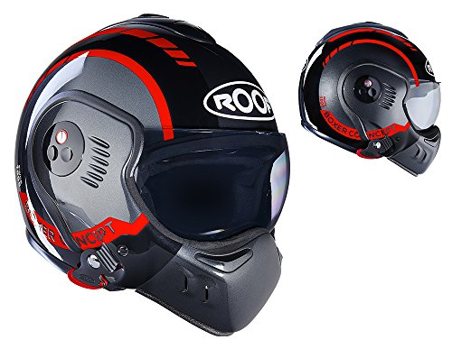 Roof Casco Boxer V8, LP20 Negro Red, Talla SM