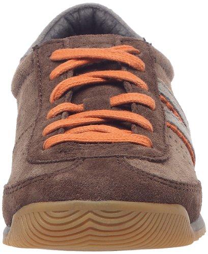 Kickers Kickretro, Chaussures à lacets garçon Marron/orange