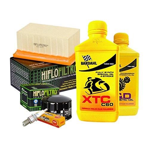 Tagliando Bardahl XTC 10W50 filtro olio aria candele cambio 75W90 R 1200 GS.