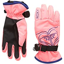 Roxy Poppy Girl Guantes de Snowboard/Esquí, Mujer, Rosa (Emberglow Solid), M