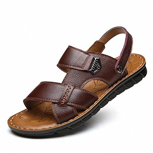2017 sandales hommes sandales en cuir hommes sandales de loisirs en plein air yellow brown