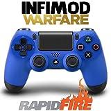 Manette Rapid Fire Infimod Warfare PS4 Bleue